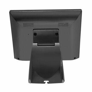 "MF104MP, 10,4"" Rahmenloser LCD Monitor, VGA, HDMI, PCAP Touch, Standfuß, VESA 75x75, schwarz"