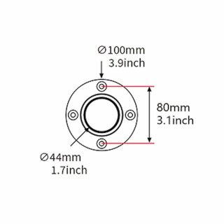 PS750, Standrohr mit Tischbefestigung, Höhe 750mm, Durchmesser 44mm, schwarz