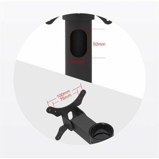 DSM270, Dual Monitorhalterung mit VESA Bohrungen, schwarz