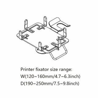 PA320, Halterung für Drucker, Länge 320mm, schwarz