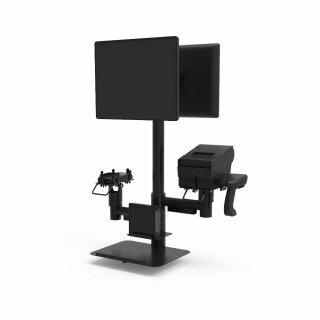 PS3010, Pole Mount System, Höhe 750mm, eine raumeffiziente Lösung für den POS, schwarz