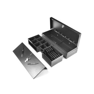 ECH170, Kassenladen, Sprungdeckel, 460  mm Breite, 6B/8C, schwarz