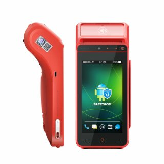 i9100MSR, Mobiles Android POS Terminal mit Card Reader, Android 8.1, 2D Scanner und 58mm Drucker