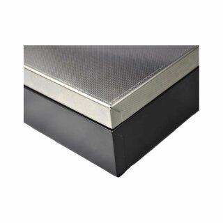 CMF460BS, Fliptop, Sprungdeckel aus Edelstahl, 8 Scheinfächer, 8 wiegbare Münzfächer, mit abschliessbarem Deckel, schwarz