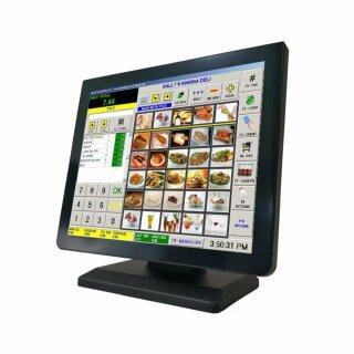 "MA170VP, 17"" Rahmenloser LCD Monitor, Metallgehäuse, VGA, HDMI, DVI, PCAP Touch (USB), Standfuß, VESA 100x100, schwarz"