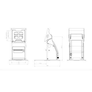 A8V2, Standfuß mit 80mm Thermal Drucker, USB,Serial, LAN, VESA 75,100,