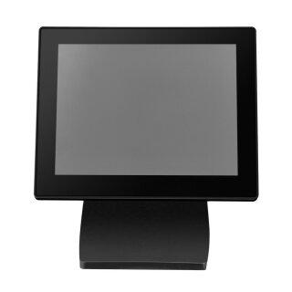 "MF080UG, 8"" Rahmenloser LCD Monitor, USB, ohne Touch, mit Standfuß, VESA 75x75, schwarz"